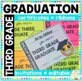 Third Grade Emoji Graduation Certificates, Invitations & Ribbons