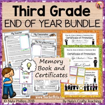 Third Grade End of Year Bundle
