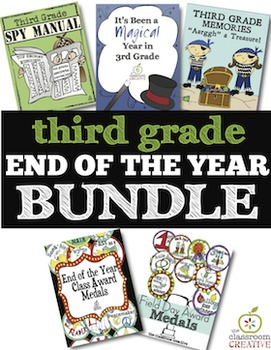 3rd Grade End of the Year Bundle: Memory Books and Awards