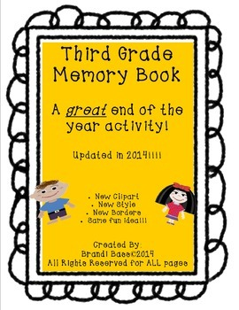 Third Grade End of the Year Memory Book