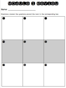 Third Grade EngageNY Math Module 1 Review Pack (Topic Quizzes and Games)