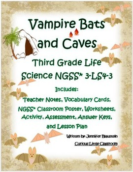 3rd Grade Common Core ELA and Life Science-Vampire Bats and Caves