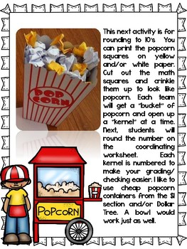 Third Grade Envisions Math Carnival: Topics 1 to 4