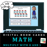 Third Grade Equations (Multiply by 0 and 1)- Boom Cards- Distance Learning