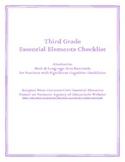 Third Grade Essential Elements Checklist