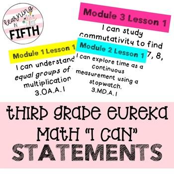 Third Grade Eureka Math I Can Statements