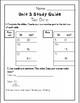 Third Grade Everyday Math Unit 3 Study Guide (EM4)