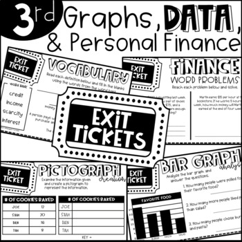 Third Grade Exit Tickets Data, Graphs, and Finance