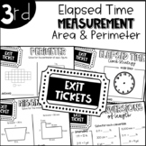 Third Grade Exit Tickets Elapsed Time Measurement Area and Perimeter