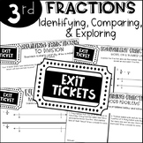 Third Grade Exit Tickets Fractions