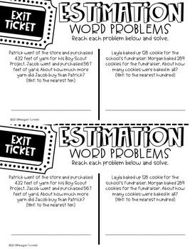 Third Grade Exit Tickets Spiraled Skills Review Test Prep