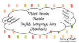 "Third Grade FL ELA Standards Checklist & ""I Can..."" Posters"