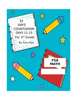 Third Grade FSA Assessment Math 35 Day Countdown Days 11-15