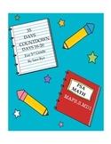 Third Grade FSA Assessment Math 35 Day Countdown Days 16-20