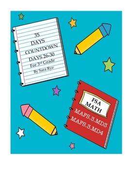 Third Grade FSA Assessment Math 35 Day Countdown Days 26-30
