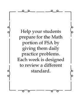 Third Grade FSA Assessment Math 35 Day Countdown Days 6-10