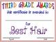 "Third Grade ""FUN"" Awards"
