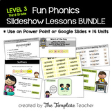 Third Grade FUN Phonics Slideshow Lessons Bundle