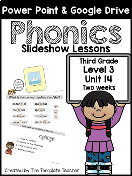 Third Grade FUN Phonics Slideshow Lessons Unit 14