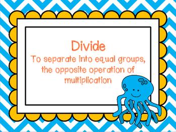 Third Grade Fishy Division Poster