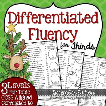 Third Grade Fluency: December Edition