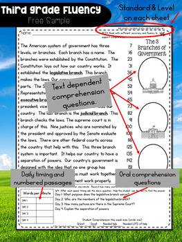 Third Grade Fluency: December Edition