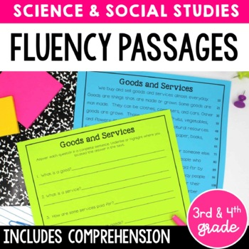 Fluency Passages for 3rd and 4th Grade