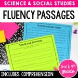 Fluency Passages & Comprehension | Science & Social Studies | Print and Digital
