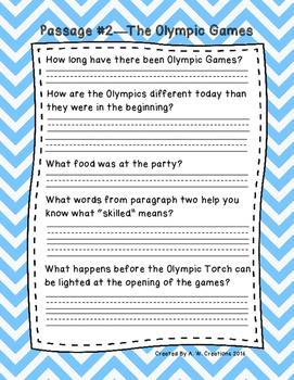 Third Grade Fluency and Comprehension Passages FREEBIE DORF