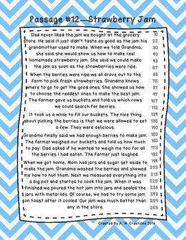 Third Grade Fluency and Comprehension Passages Set B (Passages 11-20) DORF