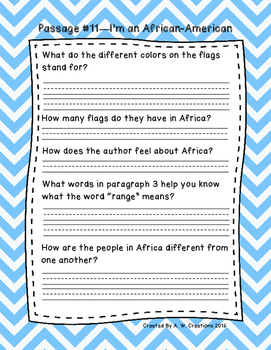 Third Grade Fluency and Comprehension Passages Set B (Pass