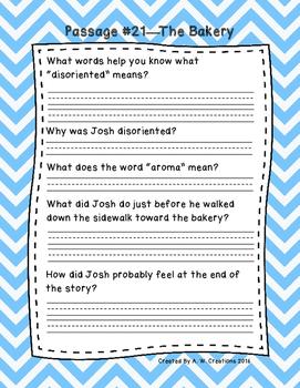 Third Grade Fluency and Comprehension Passages Set C (Pass