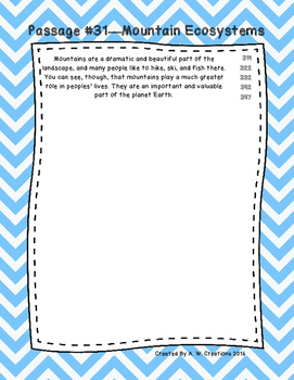 Third Grade Fluency and Comprehension Passages Set D (Passages 31-33) DORF