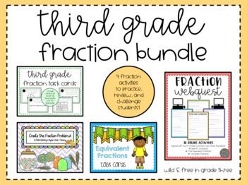 Third Grade Fraction Activity Bundle