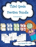 Third Grade Fraction Unit - Worksheets, Task Cards, Proble