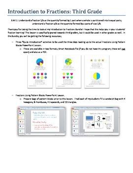 Third Grade Fraction Introduction Bundle