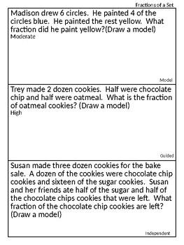 Third Grade Fraction Practice
