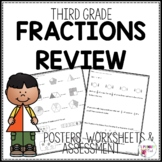 Third Grade Fraction Review Printables