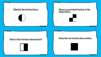 Third Grade Fraction Task Cards