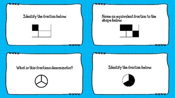 Third Grade Fraction Task Cards