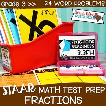 Third Grade Fractional Units Math Test Prep Review Game   Third Grade TEKS