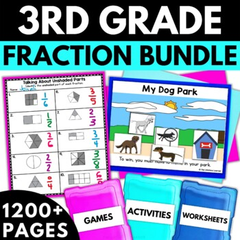 Third Grade Fractions Bundle