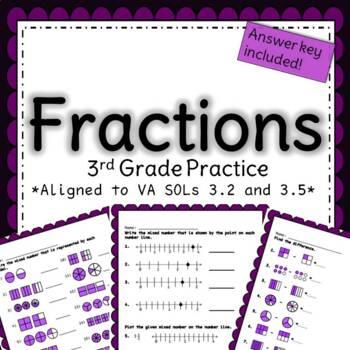 Third Grade Fractions Practice