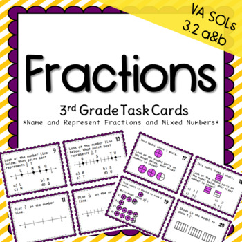 Third Grade Fractions Task Cards