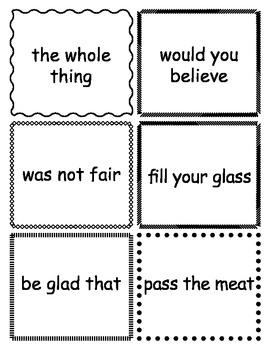 Third Grade Fry Phrase Flashcards