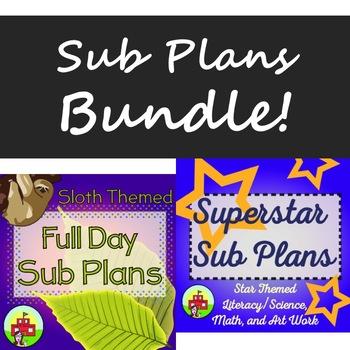 Third Grade Full Day Sub Plans BUNDLE