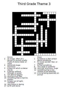 Houghton Mifflin Reading 3rd Grade Cloze Worksheets & Crossword Puzzles