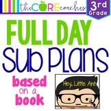 Third Grade Full day Sub Plans (ELA, Math, Science, SS, Ar