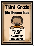 Third Grade Mathematics Lesson Plan Chapter Dividers