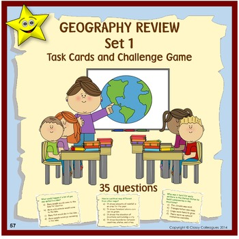 Geography Review and Challenge Game, Set 1